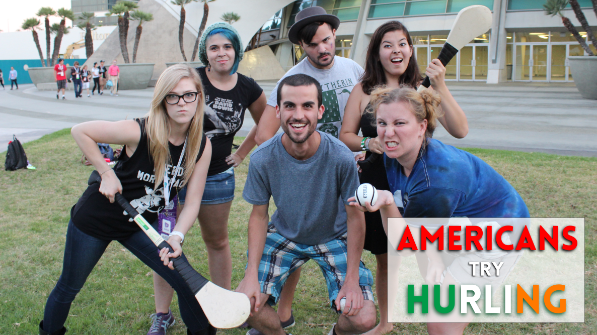 Americans Try Hurling at VidCon 2015