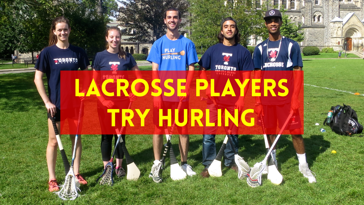 Lacrosse Players Try Hurling