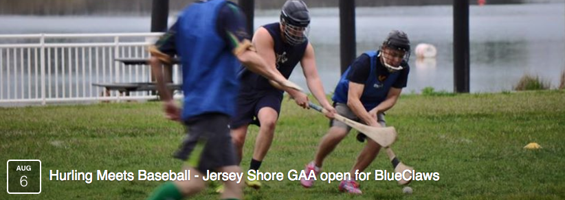 jersey shore gaa hurling demonstration game at baseball club