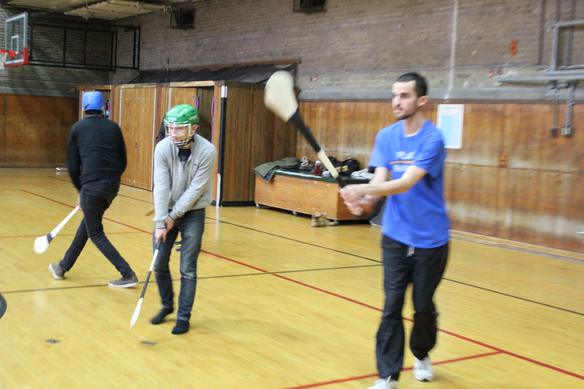 UofT Hurling Lessons striking on ground